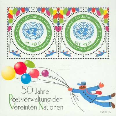 [The 50th Anniversary of the United Nations Postal Administration UNPA, Typ ]