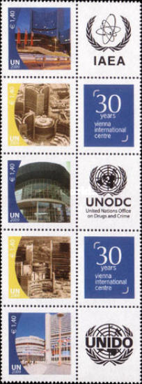 [Personalized Stamps - The 30th Anniversary of Vienna International Centre. Inscription: