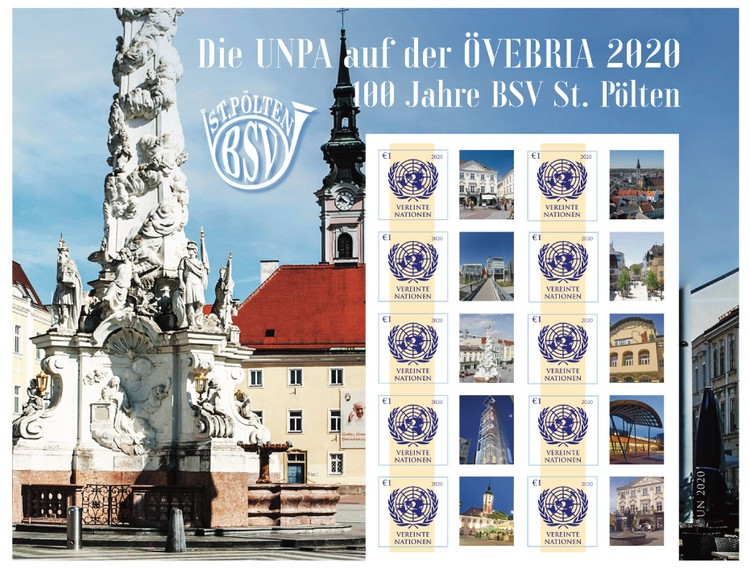 [The UNPA at the Ovebria, and the 100th Anniversary of the St. Polten Stamp Collectors Club, Typ ]
