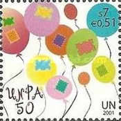 [The 50th Anniversary of the United Nations Postal Administration UNPA, Typ MA]