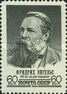[The 140th Birth Anniversary of Friedrich Engels, Typ CAC]