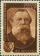 [The 125th Birth Anniversary of Engels, Typ WY]