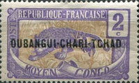 """[Middle Congo Postage Stamps Overprinted """"OUBANGUI-CHARI-TCHAD"""", type A1]"""