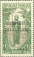 """[Middle Congo Postage Stamps Overprinted """"OUBANGUI-CHARI-TCHAD"""", type A10]"""