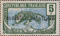 """[Middle Congo Postage Stamps Overprinted """"OUBANGUI-CHARI-TCHAD"""", type A3]"""