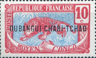 """[Middle Congo Postage Stamps Overprinted """"OUBANGUI-CHARI-TCHAD"""", type A4]"""
