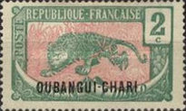 "[Middle Congo Not Issued Stamps Overprinted ""OUBANGUI-CHARI"", type E1]"
