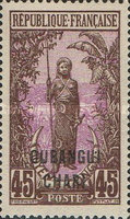 "[Middle Congo Not Issued Stamps Overprinted ""OUBANGUI-CHARI"", type E11]"