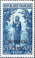 "[Middle Congo Not Issued Stamps Overprinted ""OUBANGUI-CHARI"", type E12]"