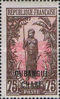 "[Middle Congo Not Issued Stamps Overprinted ""OUBANGUI-CHARI"", type E14]"