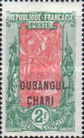 "[Middle Congo Not Issued Stamps Overprinted ""OUBANGUI-CHARI"", type E16]"