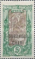 [Middle Congo Not Issued Stamps Overprinted