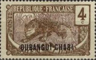 "[Middle Congo Not Issued Stamps Overprinted ""OUBANGUI-CHARI"", type E2]"