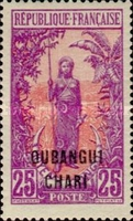 "[Middle Congo Not Issued Stamps Overprinted ""OUBANGUI-CHARI"", type E7]"