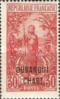 "[Middle Congo Not Issued Stamps Overprinted ""OUBANGUI-CHARI"", type E8]"