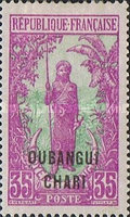 "[Middle Congo Not Issued Stamps Overprinted ""OUBANGUI-CHARI"", type E9]"
