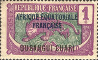 """[Middle Congo Postage Stamps Overprinted """"AFRIQUE EQUATORIALE - FRANCAISE"""", type F]"""
