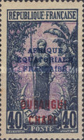 """[Middle Congo Postage Stamps Overprinted """"AFRIQUE EQUATORIALE - FRANCAISE"""", type F12]"""