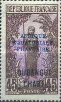 """[Middle Congo Postage Stamps Overprinted """"AFRIQUE EQUATORIALE - FRANCAISE"""", type F13]"""