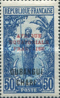 """[Middle Congo Postage Stamps Overprinted """"AFRIQUE EQUATORIALE - FRANCAISE"""", type F14]"""
