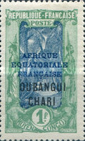 """[Middle Congo Postage Stamps Overprinted """"AFRIQUE EQUATORIALE - FRANCAISE"""", type F18]"""