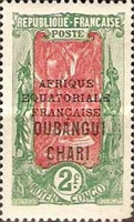 """[Middle Congo Postage Stamps Overprinted """"AFRIQUE EQUATORIALE - FRANCAISE"""", type F19]"""