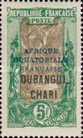 """[Middle Congo Postage Stamps Overprinted """"AFRIQUE EQUATORIALE - FRANCAISE"""", type F20]"""