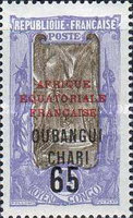 [Not Issued Middle Congo Stamps Overprinted, Typ H]