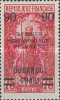[Not Issued Middle Congo Stamps Overprinted, Typ H2]