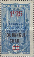 [Not Issued Middle Congo Stamps Overprinted, Typ H3]