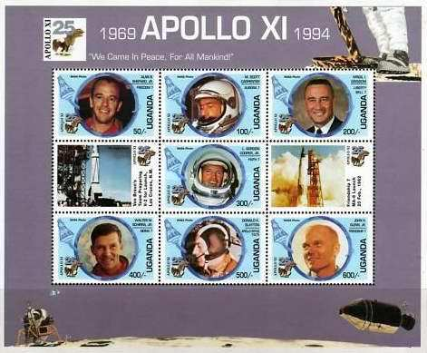 [The 25th Anniversary of First Manned Moon Landing - Astronauts, Typ ]