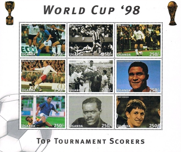 [Football World Cup - France (1998) - Top Tournament Scorers, Typ ]