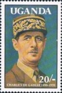 [The 100th Anniversary of the Birth (1990) Charles de Gaulle (French Statesman), 1890-1970, Typ ABI]