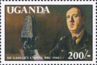 [The 100th Anniversary of the Birth (1990) Charles de Gaulle (French Statesman), 1890-1970, Typ ABM]