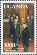 [The 100th Anniversary of the Birth (1990) Charles de Gaulle (French Statesman), 1890-1970, Typ ABP]