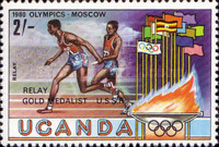 [Olympic Medal Winners - Issues of 1980 Overprinted, type FB2]