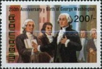 [The 250th Anniversary of the Birth of George Washington, 1732-1799 and the 100th Anniversary of the Birth of Franklin D. Roosevelt, 1882-1945, Typ GU]