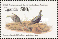 [Birds - The 200th Anniversary of the Birth of John J. Audubon, 1785-1851, Typ KA]