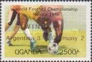 [Winners of Football World Cup in Mexico - Issues of 1986 Overprinted