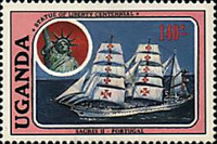 [The 100th Anniversary of Statue of Liberty - Cadet Sailing Ships, Typ LE]