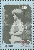 [The 90th Anniversary of the Birth of Queen Elizabeth the Queen Mother, 1900-2002, Typ WB]