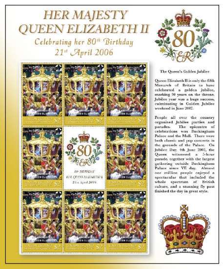 [The 80th Anniversary of the Birth of HRM The Queen Elizabeth II, type ]