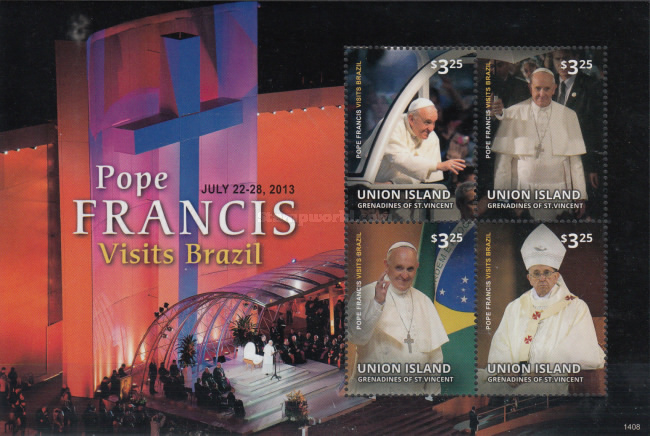 [Pope Francis Visits Brazil, type ]