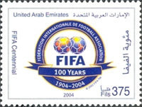 [The 100th Anniversary of FIFA or Federation Internationale de Football Association, type ABZ]