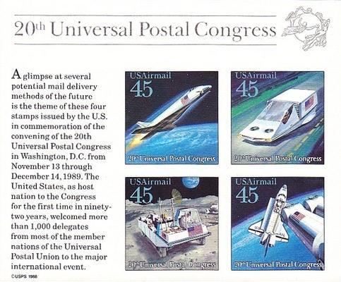 [The 20th UPU Congress & World Stamp Expo '89, Typ ]