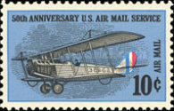 [The 50th Anniversay of Regularly Scheduled U.S. Airmail Service, Typ AW]