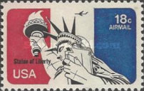 [Statue of Liberty and Mount Rushmore, type BH]