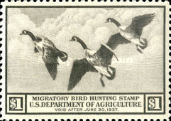 [Department of Agriculture Duck Stamps - Canada Geese, Typ C]