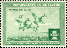[Department of Agriculture Duck Stamps - Greater Scaups, Typ D]