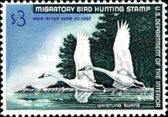 [Department of the Interior Duck Stamps - Tundra Swans, Typ AB]